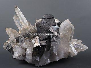 arzenopyrit + křišťál